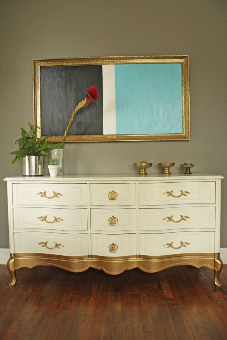 Painting Old Bedroom Furniture 17 Best Images About Metallic Painted Furniture On Pinterest