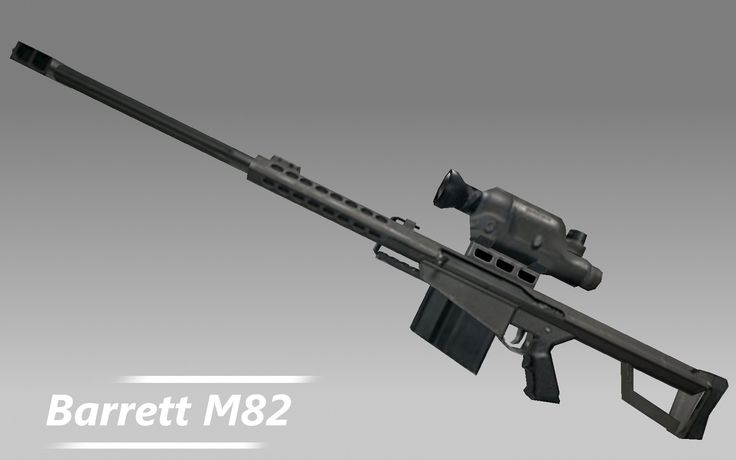 barrett m82 rifle gun 3d model