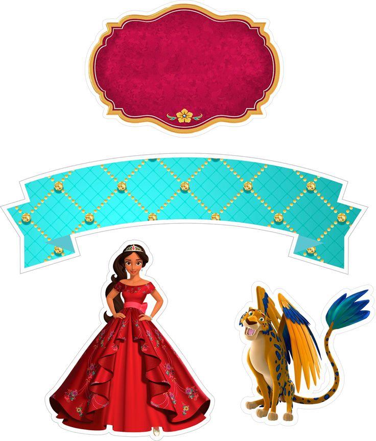 Topo de Bolo Princesa Elena de Avalor