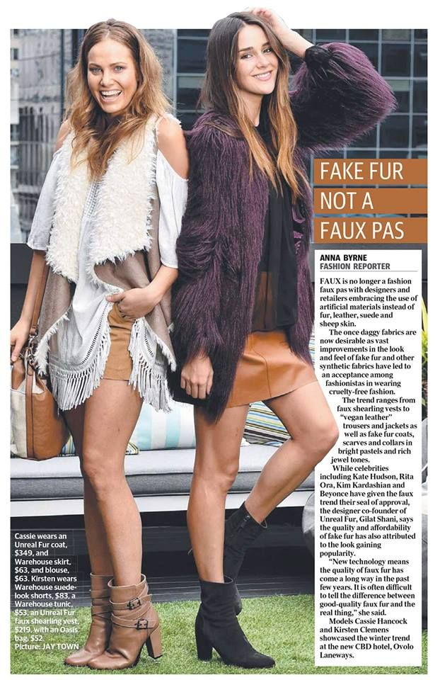 Unreal fur available at www.pincsilver.com.au