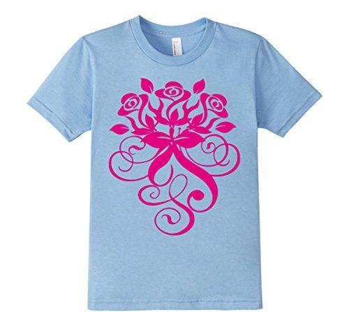 kids three beautiful and intense pink roses t shirt 4 bab https