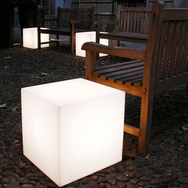 Cubo Out, with its light sweet and sensual lets you create a lounge environment. In a living room or around a table, Cubo Out invites you to prolong the intimacy of your evenings. http://www.williedugganlighting.com/shop/slide-cubo-out-exterior-floor-lamp?path=18_72