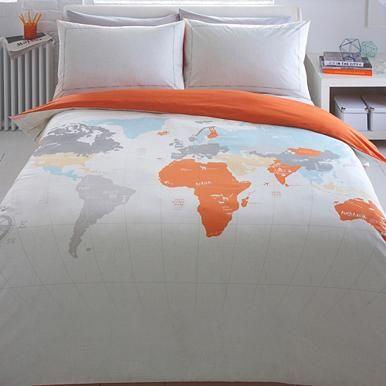 Mejores 42 imgenes de dylaneys room en pinterest ideas para world print map bedding set gumiabroncs Image collections