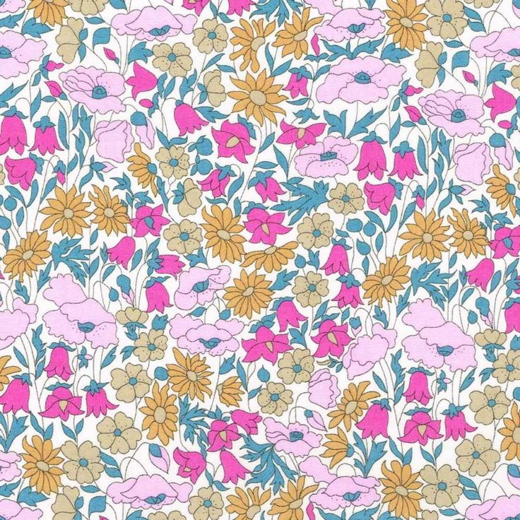 Liberty Fabric Tana Lawn Poppy and Daisy X