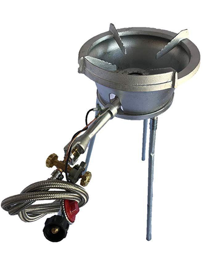 Powerflamer Outdoor Long Leg High Pressure Propane Electronic Ignition Wok Burner Bbq Grill Wok Long Legs