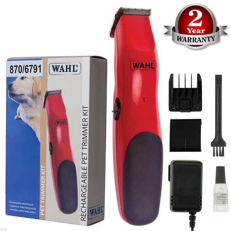 WAHL RECHARGEABLE CORDLESS PET DOG CAT CLIPPERS GROOMING KIT ANIMAL HAIR TRIMMER