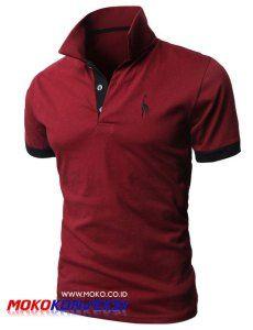 model kaos berkerah bordir warna marun terbaru jual polo shirt bordir warna maroon