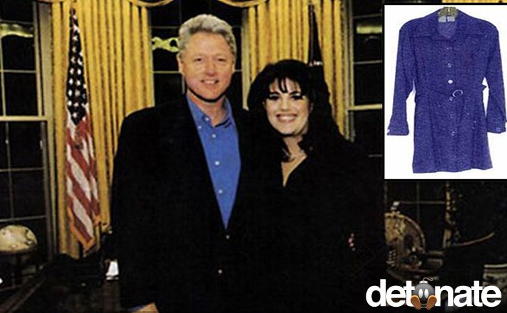 Oh yeah, now we're talking! There's Monica Lewinsky's intern dress for sale. We wonder if Hillary was the winning bidder?