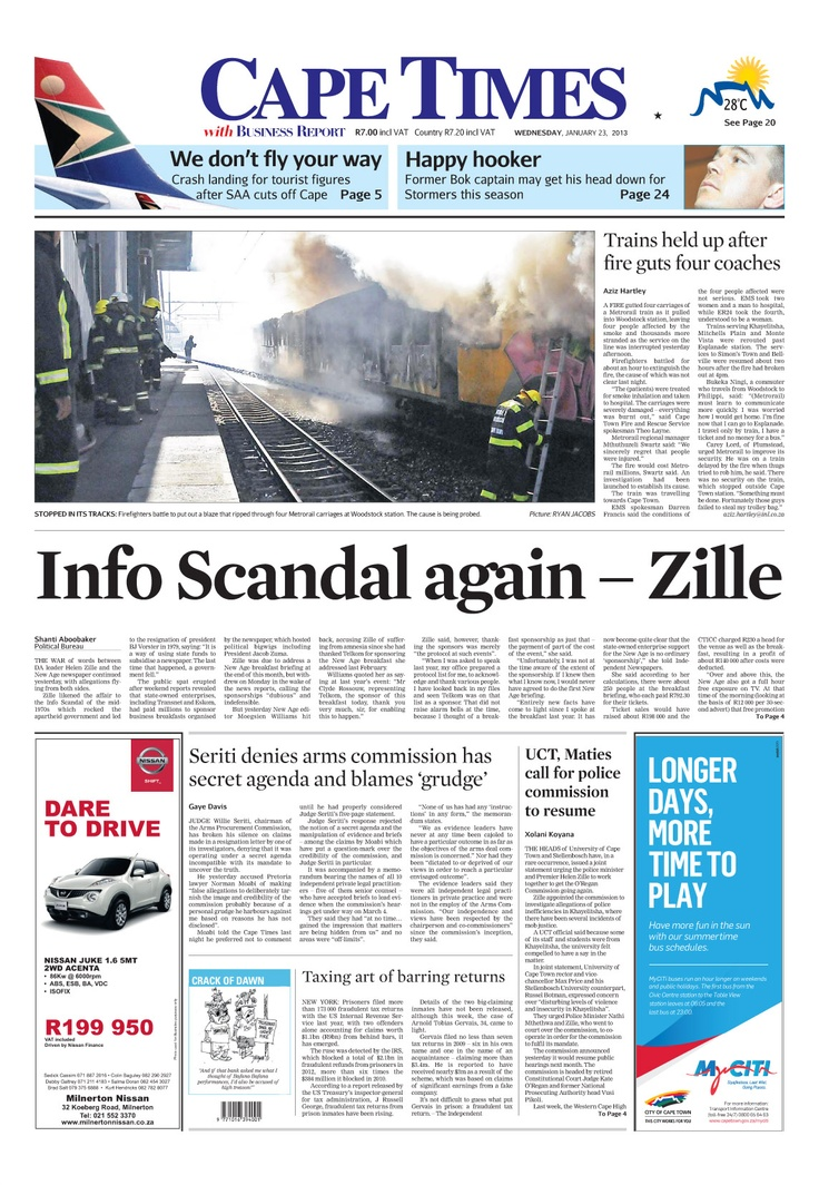 Info scandal again - Zille