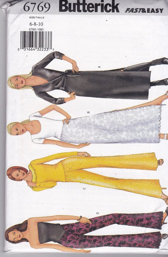 Butterick 6769 modello Vintage Womens pantaloni e gonne in