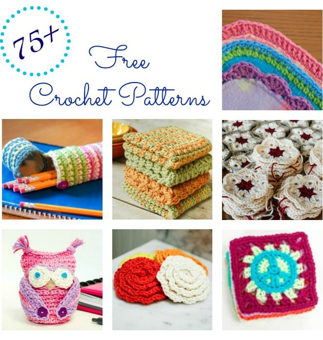 More than 75 free crochet patterns beginners and experienced crocheters alike! Fashionable accessories, home decor, handmade gifts, jewelry ...