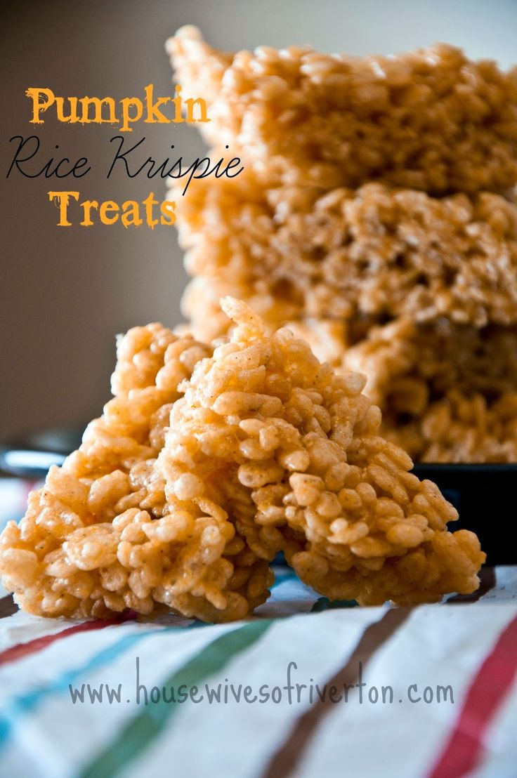 Pumpkin Rice Krispies? I need to try this combo!