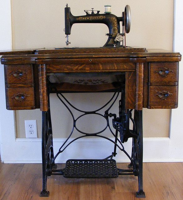 Antique New Home Treadle Sewing Machine Value