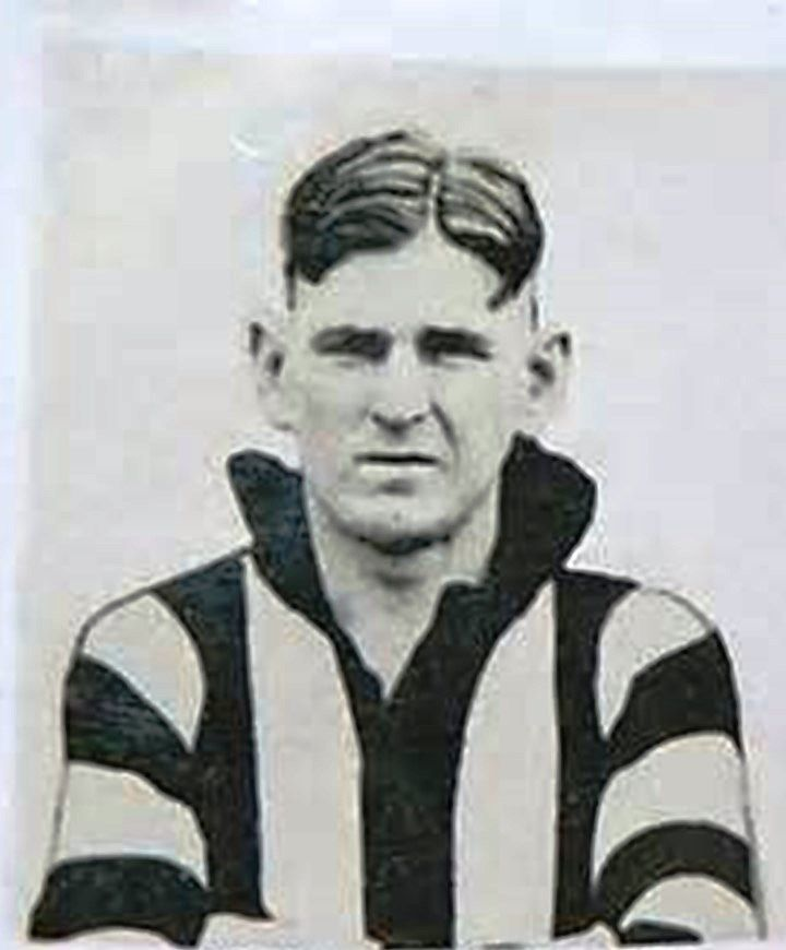 Albert Collier. Played 1925-1942. Games Collingwood 205, Fitzroy 12. Brownlow medal 1929. Premierships 1927-1930, 1935, 1936.