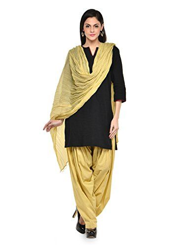 Stylenmart Women Cotton Solid Full Patiala Salwar Dupatta Set - http://weddingcollections.co.in/product/stylenmart-women-cotton-solid-full-patiala-salwar-dupatta-set-stmapa078615-_beige-_free-size/