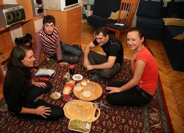 Modest dinner of students
