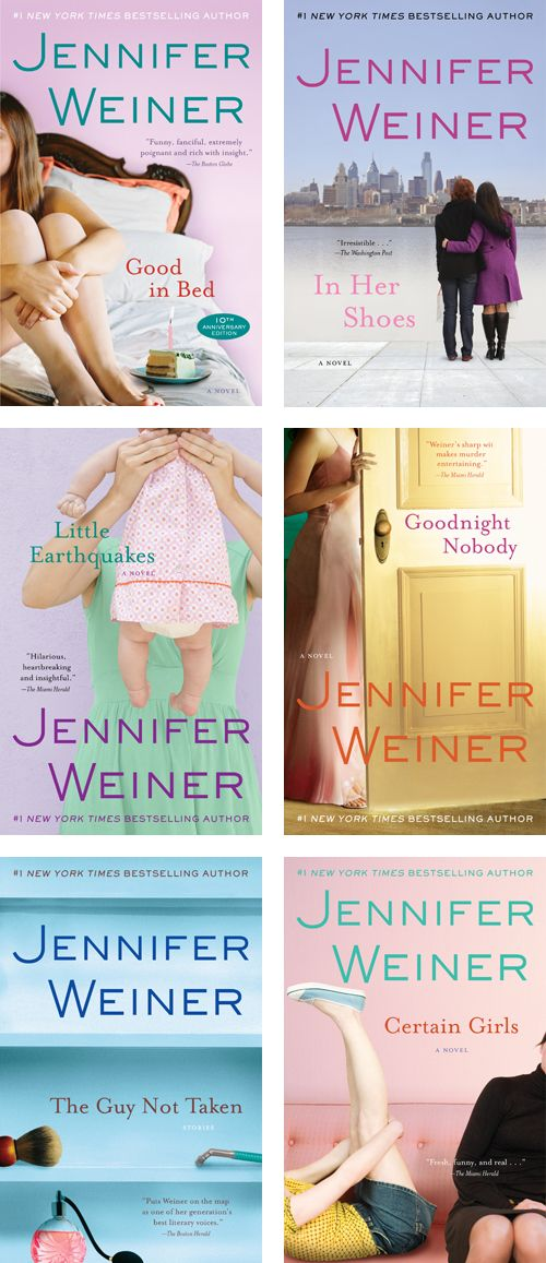 "Jennifer Weiner - ""Good in Bed"" was my favorite! : )"