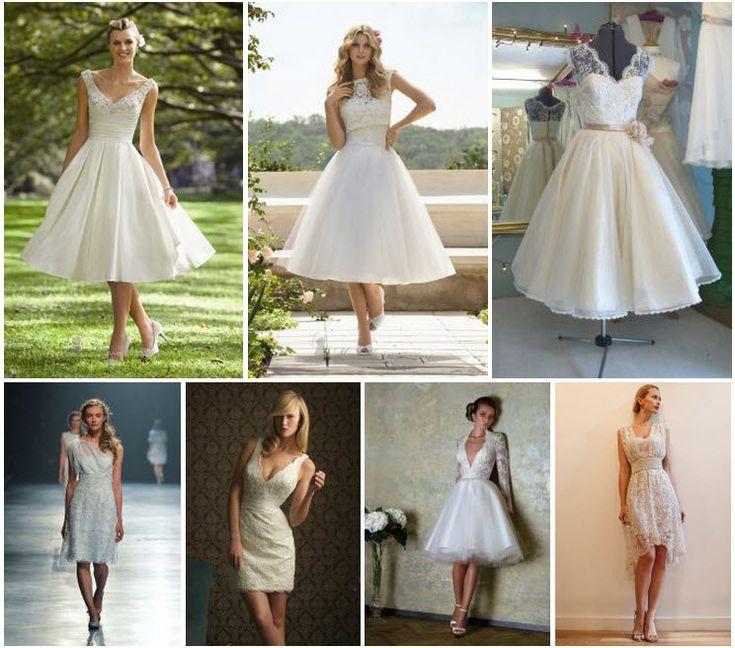 Um vestido de noiva curto é ideal para uma celebração mais descontraída ou para o casamento civil. São perfeitos para um mini-wedding diurno e para o Verão.