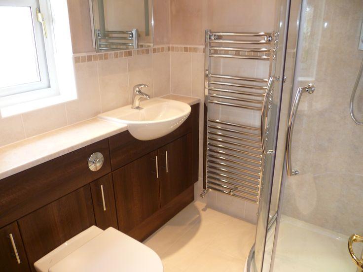 Wenge Sorrento wash basin & toilet units