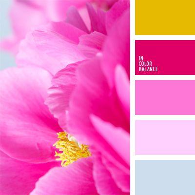 celeste pastel, color fucsia, color rosado vivo, color vinca, elección del color, frambuesa, pajizo, púrpura pálido, rosa pastel, rosado pálido, rosado vivo, tonos celestes.