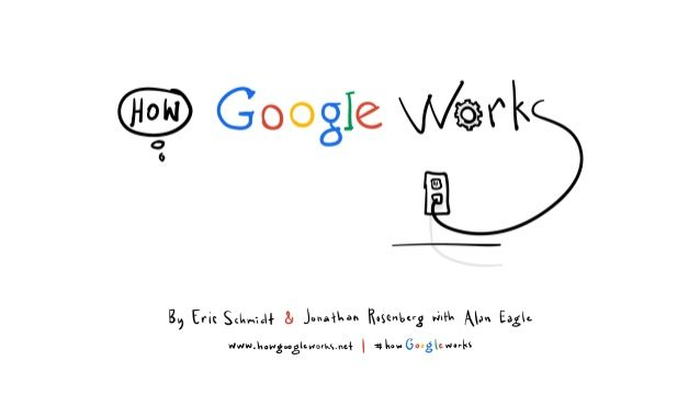 """A crash course in management in the digital age... """"How Google Works"""" by Eric Schmidt via slideshare"""
