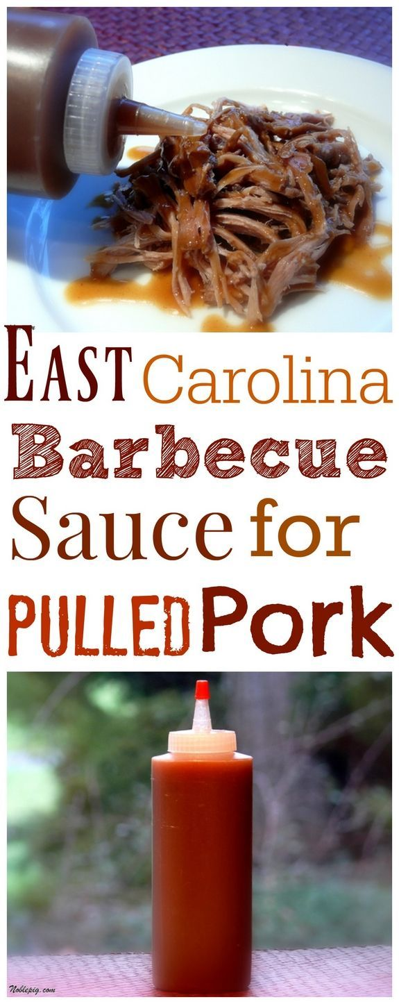 VIDEO + Recipe for East Carolina Barbecue Sauce for Pulled Pork from NoblePig.com.
