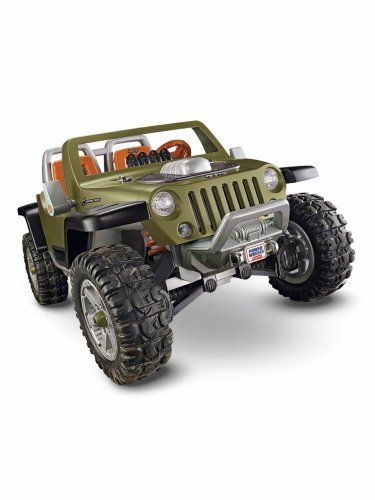 "Power Wheels Ultimate Terrain Traction Jeep Hurricane by Fisher-Price. $649.50. From the Manufacturer                The Power Wheels Jeep Hurricane is a 2 seat, 12v BPRO with Ultimate Terrain Traction. The vehicle drives 2.5 and 5mph forward and 2.5 mph in reverse. It's main feature is its superior terrain performance versus other BPROs. It has large 16"" tires, 2 cup holders, a real FM radio, an adjustable seat and battery charge indicator that monitors battery c..."
