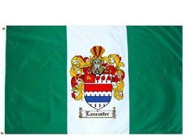 $49.99 Lancaster Family Crest / Coat of Arms Flag. Large 3 ft. x 5 ft. polyester flags.