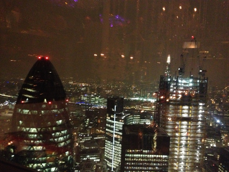 Cocktails in the Heron Tower, London