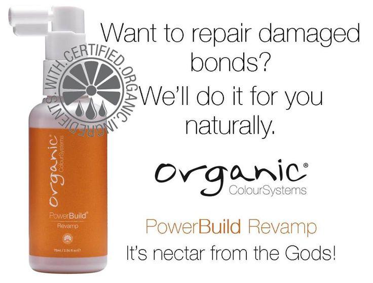 Repair damaged bonds naturally with Organic Colour Systems PowerBuild Revamp Treatment #ocsaustralia #revamp #organiccolour
