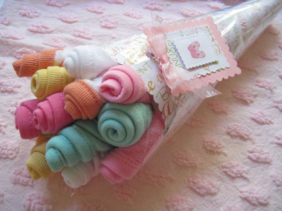 Baby Washcloth Bouquet Girl Boy or Neutral by YouAreMyEverything, $16.00