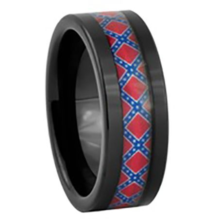 Southern Sisters Designs - Rebel Flag Ring - 8 MM, $33.95 (http://www.southernsistersdesigns.com/rebel-flag-ring-8-mm/)