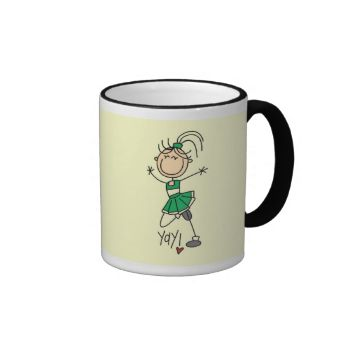 Cheerleaders will love this cute stick figure cheerleading design on cheerleader T-shirts, hoodies, mugs, tote bags, cards, buttons, and other items with a stick figure cheerleader in a green uniform! #green #cheerleader #school #cheering #cheer #cheerleading #cheerleader #cute #cheerleader #school #sports #sports #kids #kids #cheerleading #womens #cheerleading #girls #cheerleading #peacockcards #stick #figures #stick #people #comic #cartoon #cheering #gifts #cheering #design #cheerleading…