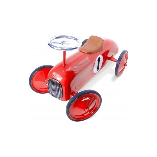 Ma 1ère voiture de course en métal rouge, porteur voiture Vilac 1049