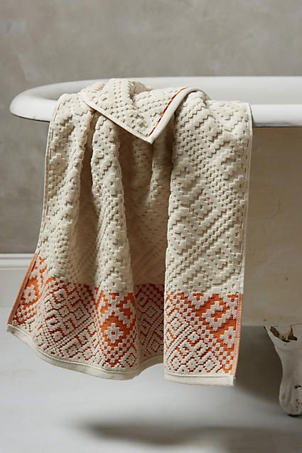 Best Towels Images On Pinterest Bath Linens Bathroom Towels - Orange patterned towels for small bathroom ideas