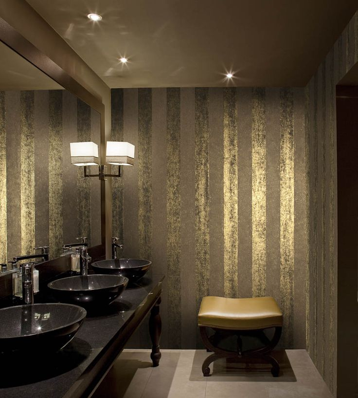 Interior Design Classic, Metallics | Metallic Stripes Wallpaper by Brian Yates | Jane Clayton