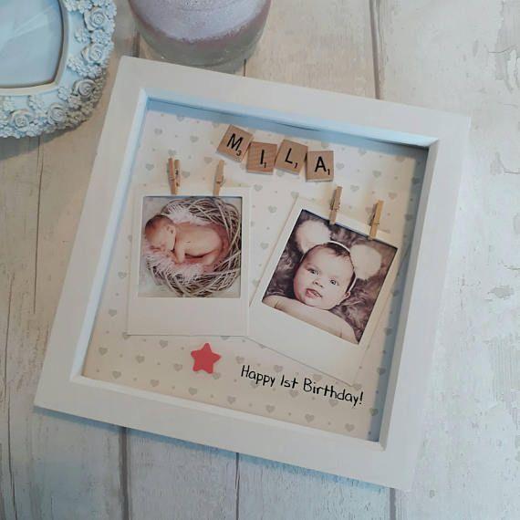 First Birthday Frame Personalised 1st Birthday Etsy 1st Birthday Presents Birthday Frames First Birthday Presents