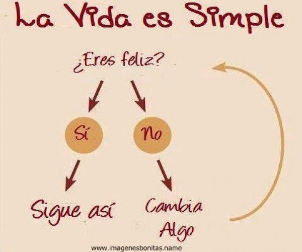 La vida es simple, es la gente la que se complica dando importancia a lo que no tiene.