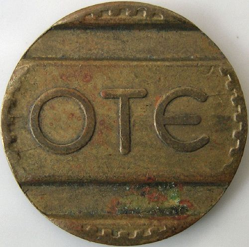 Vintage Greek transportation token from my Flickr
