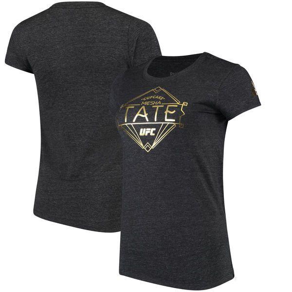 Miesha Tate Reebok Women's UFC Diamond Marquee T-Shirt - Heather Black - $21.99
