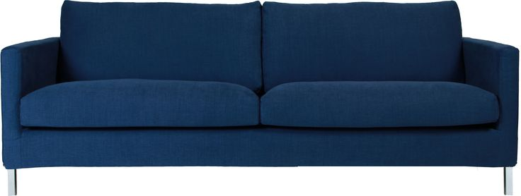 Soffa Impulse Lux 3-sits i tyg Caleido mörkblå från Sits, är en stilren och snygg soffa med härlig sittkomfort.