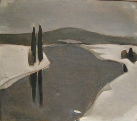 H. Ahtela (Einar Reuter): The River Freezes, oil on canvas.