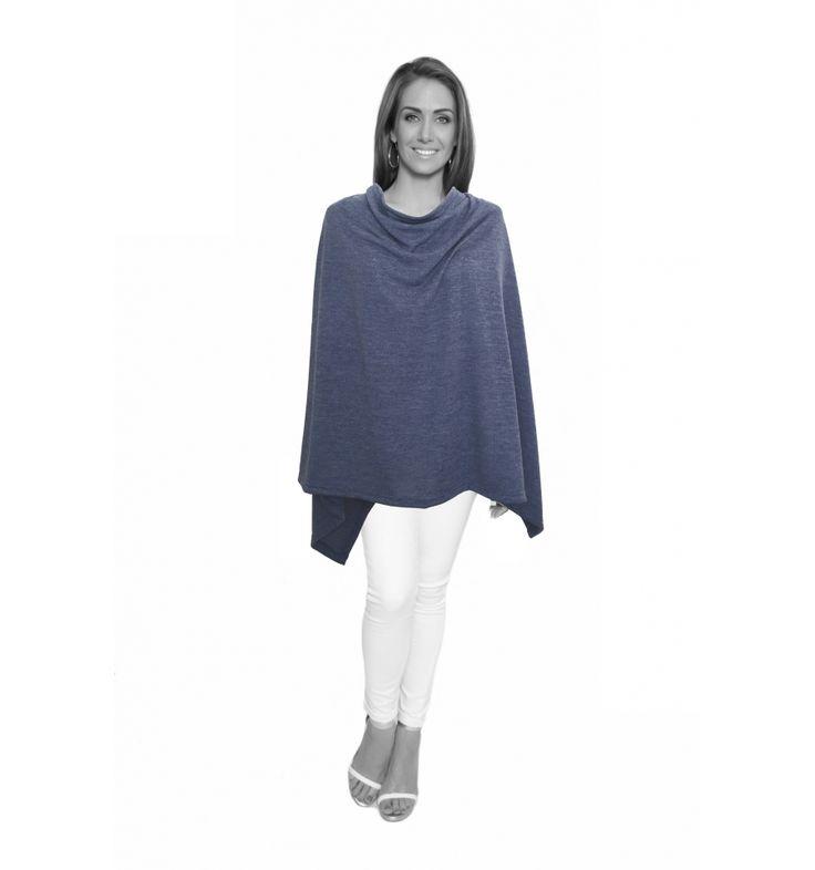 Denim Blue Winter Light Knit Wrap