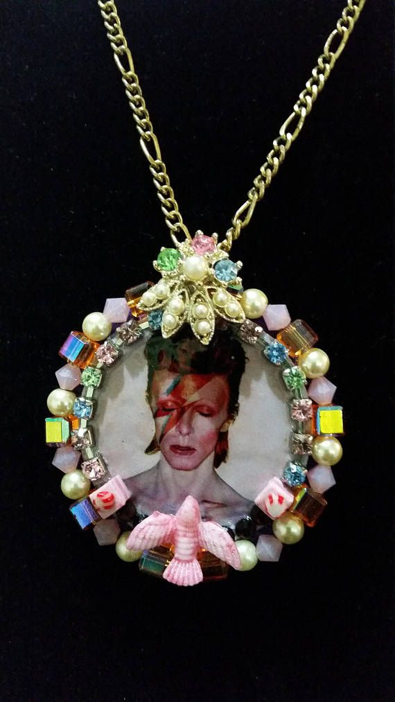 Aladdin Sane Pendant Necklace  handcrafted David Bowie