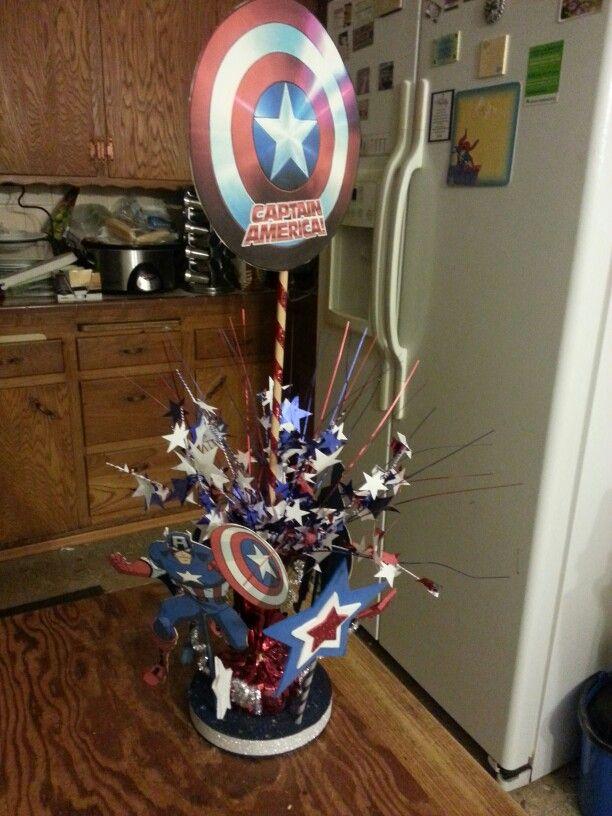 Captain America Birthday Centerpiece