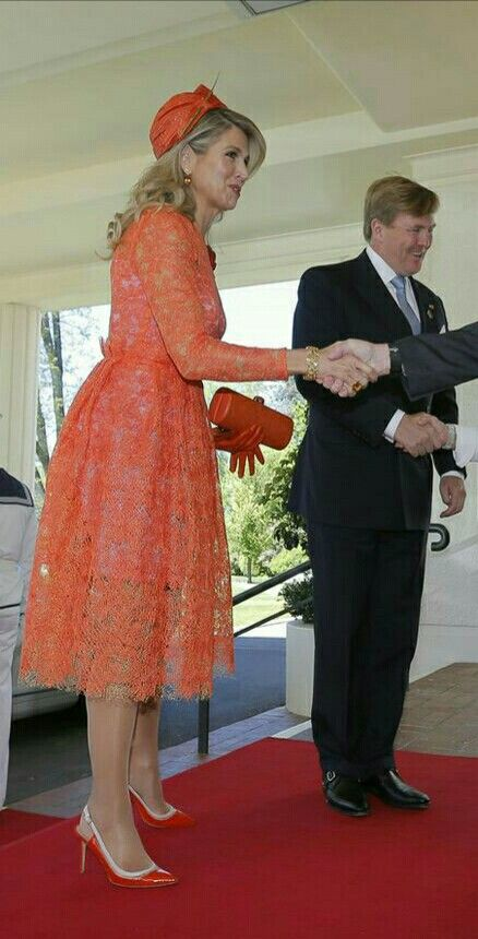 Orange suits Maxima so well.  After all, she is the king of Orange wife....