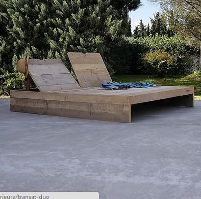 Chaise longue en bois de palette