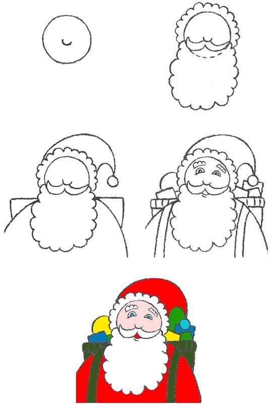 Как нарисовать открытку деду морозу, картинки