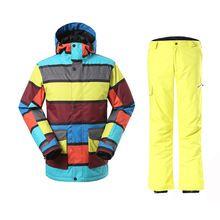 US $135.93 2017 Sale Anti-pilling Men New Winter Snowboarding Men's Windproof Ski Jacket+warm Pant Mens Breathable Skiing Jacket Suit. Aliexpress product