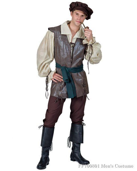 1358b789981d3 Medieval Man Peasant Costume in 2019